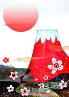 梅と富士 02432000489| 写真素材・ストックフォト・画像・イラスト素材|アマナイメージズ