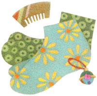 足袋と櫛と鈴 02456000016  写真素材・ストックフォト・画像・イラスト素材 アマナイメージズ