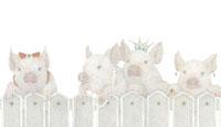 アクセサリーをつけた豚たち 02456000021  写真素材・ストックフォト・画像・イラスト素材 アマナイメージズ