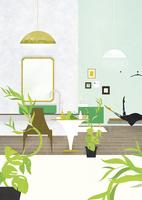植物のあるインテリア 02463001411| 写真素材・ストックフォト・画像・イラスト素材|アマナイメージズ