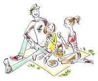 家族でピクニック 02463001735| 写真素材・ストックフォト・画像・イラスト素材|アマナイメージズ