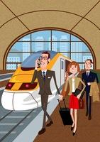 駅、ビジネスマン 02464000082| 写真素材・ストックフォト・画像・イラスト素材|アマナイメージズ