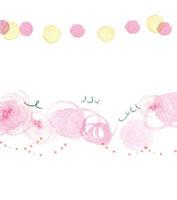 水彩 ピンクの円と丸と点 02475000003| 写真素材・ストックフォト・画像・イラスト素材|アマナイメージズ