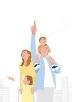 4人家族 02526000149  写真素材・ストックフォト・画像・イラスト素材 アマナイメージズ