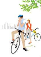 サイクリングするカップル 02526000152  写真素材・ストックフォト・画像・イラスト素材 アマナイメージズ