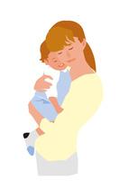 子供を抱く母親 02526000219  写真素材・ストックフォト・画像・イラスト素材 アマナイメージズ