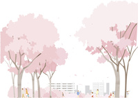 桜と人々 02526000246  写真素材・ストックフォト・画像・イラスト素材 アマナイメージズ