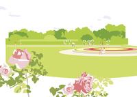 バラと公園 02526000247  写真素材・ストックフォト・画像・イラスト素材 アマナイメージズ