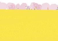 桜と菜の花畑 02526000248  写真素材・ストックフォト・画像・イラスト素材 アマナイメージズ