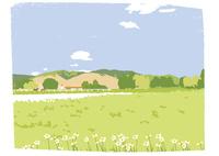 高原の牧場 02526000254  写真素材・ストックフォト・画像・イラスト素材 アマナイメージズ