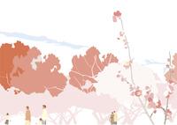 海の花と木 02526000260  写真素材・ストックフォト・画像・イラスト素材 アマナイメージズ