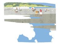 潮干狩り 02526000262  写真素材・ストックフォト・画像・イラスト素材 アマナイメージズ