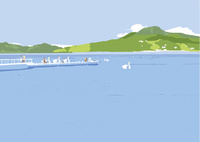 湖の風景 02526000263  写真素材・ストックフォト・画像・イラスト素材 アマナイメージズ