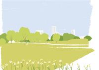 花の咲く公園 02526000267  写真素材・ストックフォト・画像・イラスト素材 アマナイメージズ