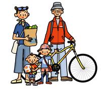 アウトドアイメージの家族 02551000139| 写真素材・ストックフォト・画像・イラスト素材|アマナイメージズ