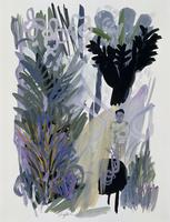 植物に囲まれた男性 02655000277| 写真素材・ストックフォト・画像・イラスト素材|アマナイメージズ