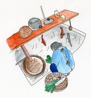 野菜を洗う女性 02665000004  写真素材・ストックフォト・画像・イラスト素材 アマナイメージズ