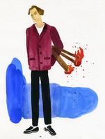 松明を持つ男性 02665000006  写真素材・ストックフォト・画像・イラスト素材 アマナイメージズ