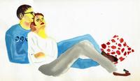 男性に寄りかかる女性 02665000009  写真素材・ストックフォト・画像・イラスト素材 アマナイメージズ