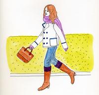 歩く女性 02665000010  写真素材・ストックフォト・画像・イラスト素材 アマナイメージズ