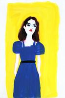 青いドレスの女性 02665000028  写真素材・ストックフォト・画像・イラスト素材 アマナイメージズ