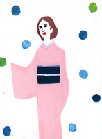 着物を着た女性 02665000041  写真素材・ストックフォト・画像・イラスト素材 アマナイメージズ