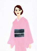 着物を着た女性 02665000043  写真素材・ストックフォト・画像・イラスト素材 アマナイメージズ