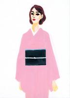 着物を着た女性 02665000044  写真素材・ストックフォト・画像・イラスト素材 アマナイメージズ