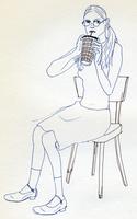 眼鏡をかけた女性 02665000053  写真素材・ストックフォト・画像・イラスト素材 アマナイメージズ