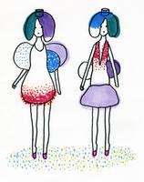 二人の女性 02665000055  写真素材・ストックフォト・画像・イラスト素材 アマナイメージズ