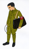 戦時中の男性 02665000062  写真素材・ストックフォト・画像・イラスト素材 アマナイメージズ