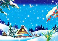 雪の白川郷 02694000254| 写真素材・ストックフォト・画像・イラスト素材|アマナイメージズ