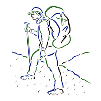 登山をする男性 02837000136| 写真素材・ストックフォト・画像・イラスト素材|アマナイメージズ