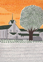 教会と大木 02837000143| 写真素材・ストックフォト・画像・イラスト素材|アマナイメージズ