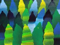 森の中を飛ぶ2羽のトリ 02837000296| 写真素材・ストックフォト・画像・イラスト素材|アマナイメージズ