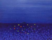 夜明け前の海に浮かぶ島 02837000302| 写真素材・ストックフォト・画像・イラスト素材|アマナイメージズ