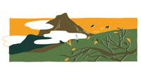 秋が訪れた山 02837000548| 写真素材・ストックフォト・画像・イラスト素材|アマナイメージズ