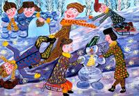 雪遊び 20020000257| 写真素材・ストックフォト・画像・イラスト素材|アマナイメージズ