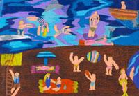 海辺で遊ぶ 20020000759| 写真素材・ストックフォト・画像・イラスト素材|アマナイメージズ