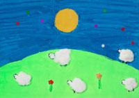 花のような羊たち 20020000761| 写真素材・ストックフォト・画像・イラスト素材|アマナイメージズ