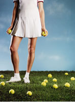 Woman with Tennis Balls