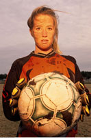 Portrait of Muddy Female Soccer Player
