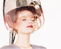 Woman Under a Hair Dryer