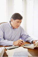 Man doing Personal Finances
