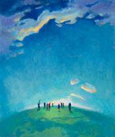 People on Earth Looking at Sky 20025234943  写真素材・ストックフォト・画像・イラスト素材 アマナイメージズ