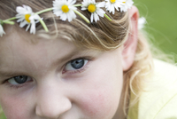 Close-up of Girl wearing Daisy Chain