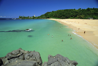 Waimea Bay Beach Park, a popular surfing spot on Oahu's North Shore, Oahu, Hawaii, United States of America 20025352040| 写真素材・ストックフォト・画像・イラスト素材|アマナイメージズ