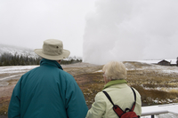 Old Faithful, Yellowstone National Park, UNESCO World Heritage Site, Wyoming, United States of America, North America 20025359268| 写真素材・ストックフォト・画像・イラスト素材|アマナイメージズ