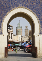City gate of Bab Boujeloud (Blue Gate), Medina, Fez (Fes), UNESCO World Heritage Site, Morocco, North Africa, Africa 20025364305| 写真素材・ストックフォト・画像・イラスト素材|アマナイメージズ