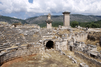 The amphitheatre at the Lycian site of Xanthos, UNESCO World Heritage Site, Antalya Province, Anatolia, Turkey, Asia Minor, Eura 20025365304| 写真素材・ストックフォト・画像・イラスト素材|アマナイメージズ